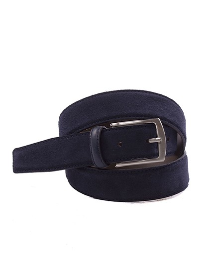 Cinturon para hombre en color azul marino Caracteristicas Not assigned zapato de estilo casual suela exterior piel de serraje e