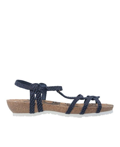 Sandalias para mujer en color azul marino Caracteristicas con hebilla cuna 4 cm zapato de estilo casual suela de goma exterior