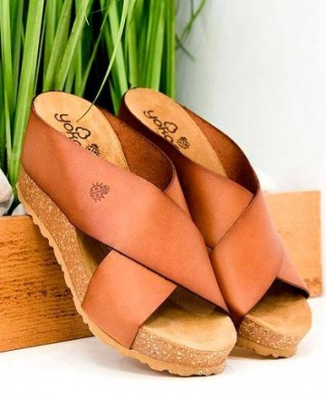 Catchalot Wedge sandals Yokono Cinnamon 005