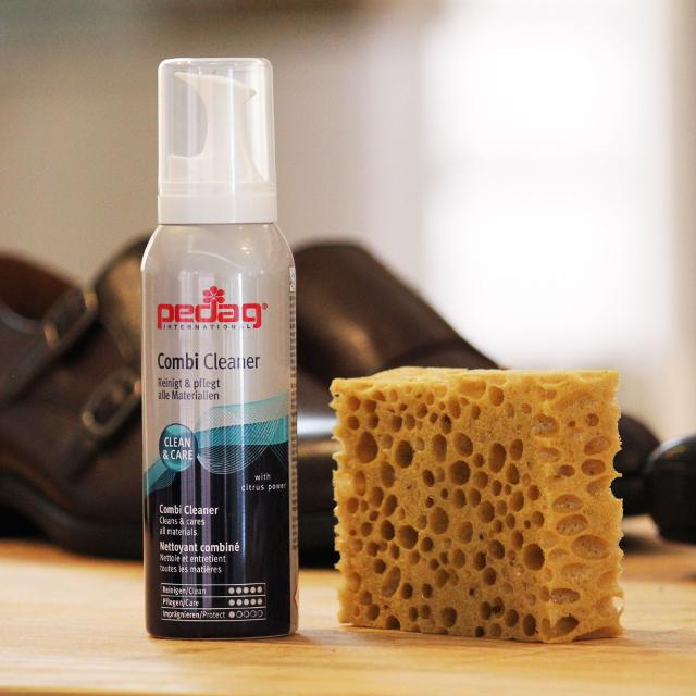 Espuma limpiadora de zapatos Catchalot Pedag Combi Set,  limpieza y mantenimiento de zapatos
