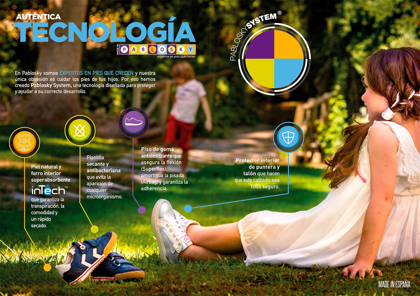 Tecnología Pablosky para zapatos de niños