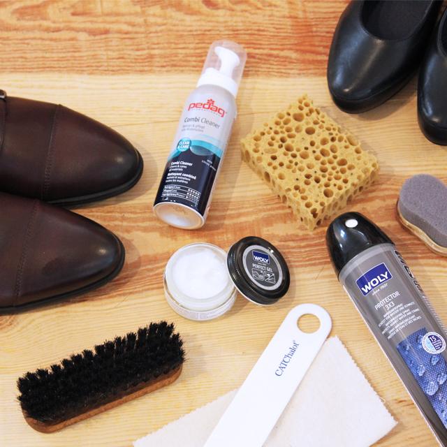 Productos para la limpieza y mantenimiento de zapatos