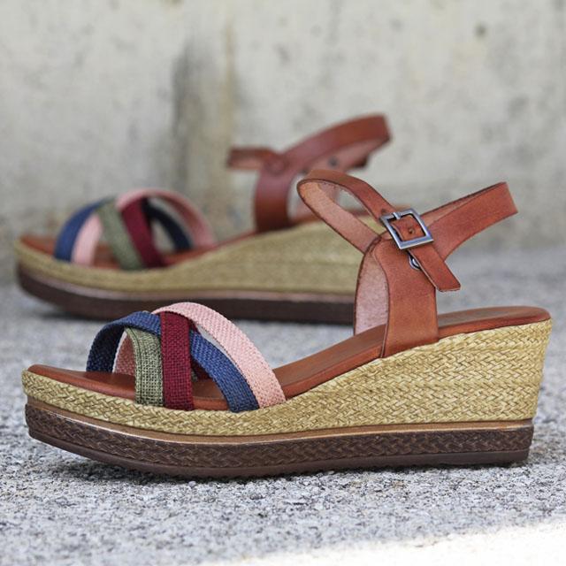 sandalias romanas para mujer Porronet Flora