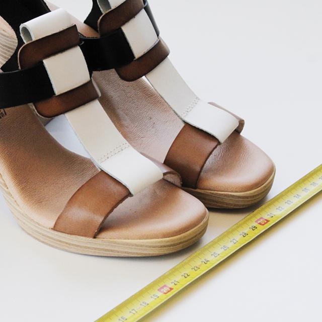 talla de pie en centímetros