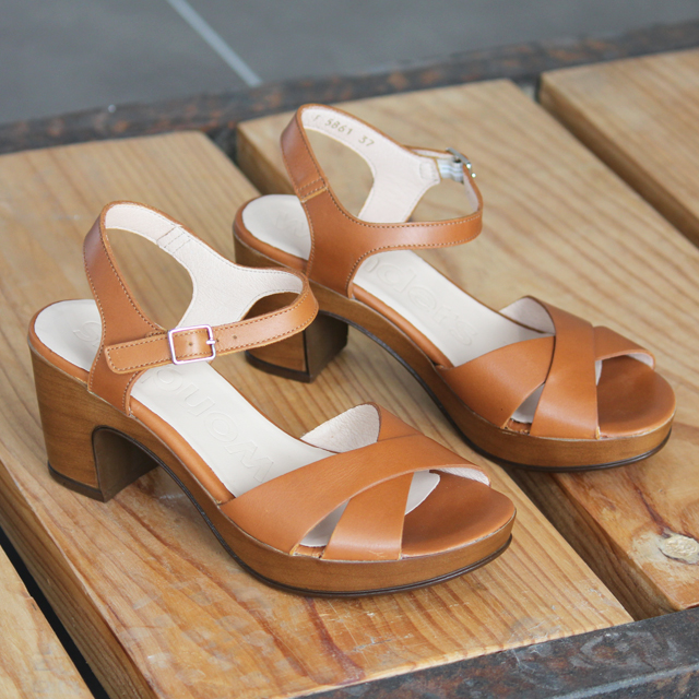 zapatos tacón alto sandalias wonders F-5861-P