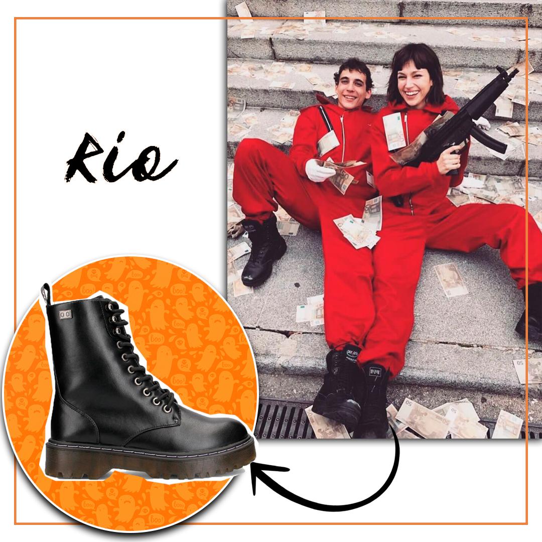 Descuentos zapatos halloween botas militares Coolway Abby