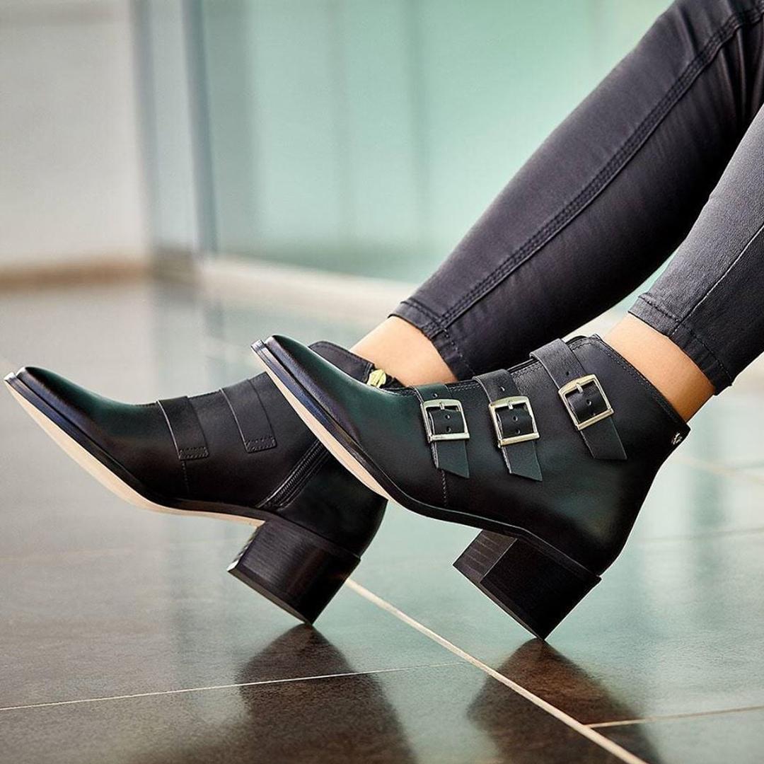 botines negros de mujer
