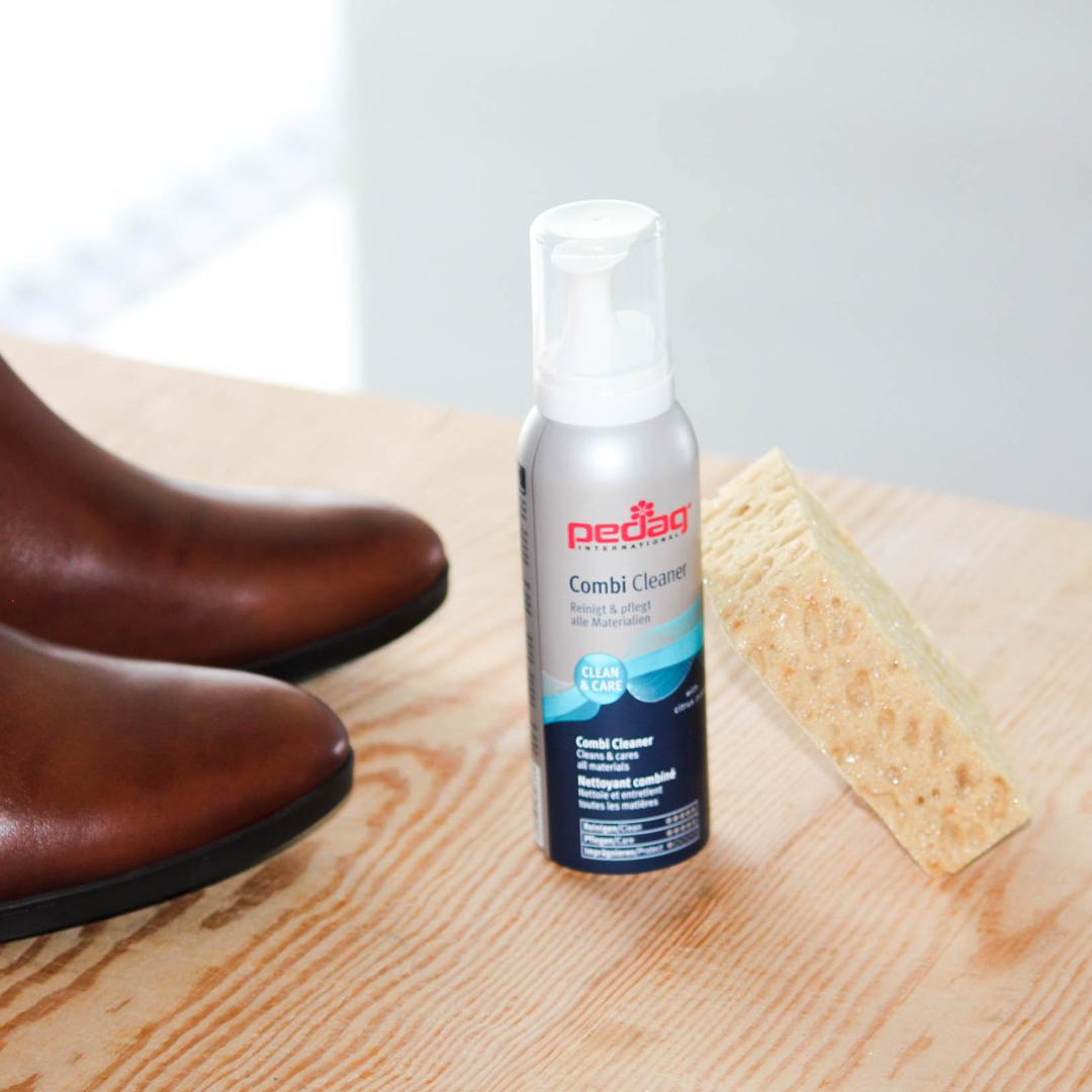 limpieza de botas de piel Combi Cleaner pedag