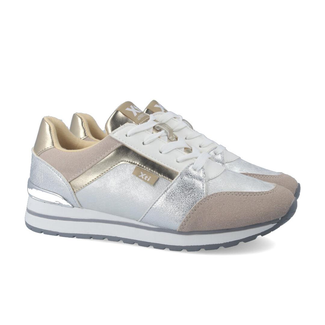 Sneakers plateadas mujer XTI 44146