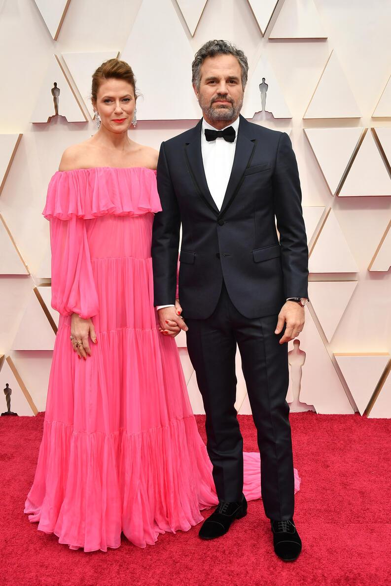 Zapatos Oscars 2020: Zapatos de terciopelo de Mark Ruffalo en la gala de los Oscars 2020