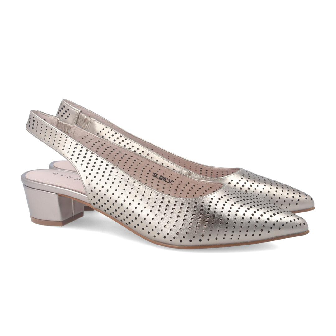 Zapato de salón destalonado color plata Stephen Allen para mujer