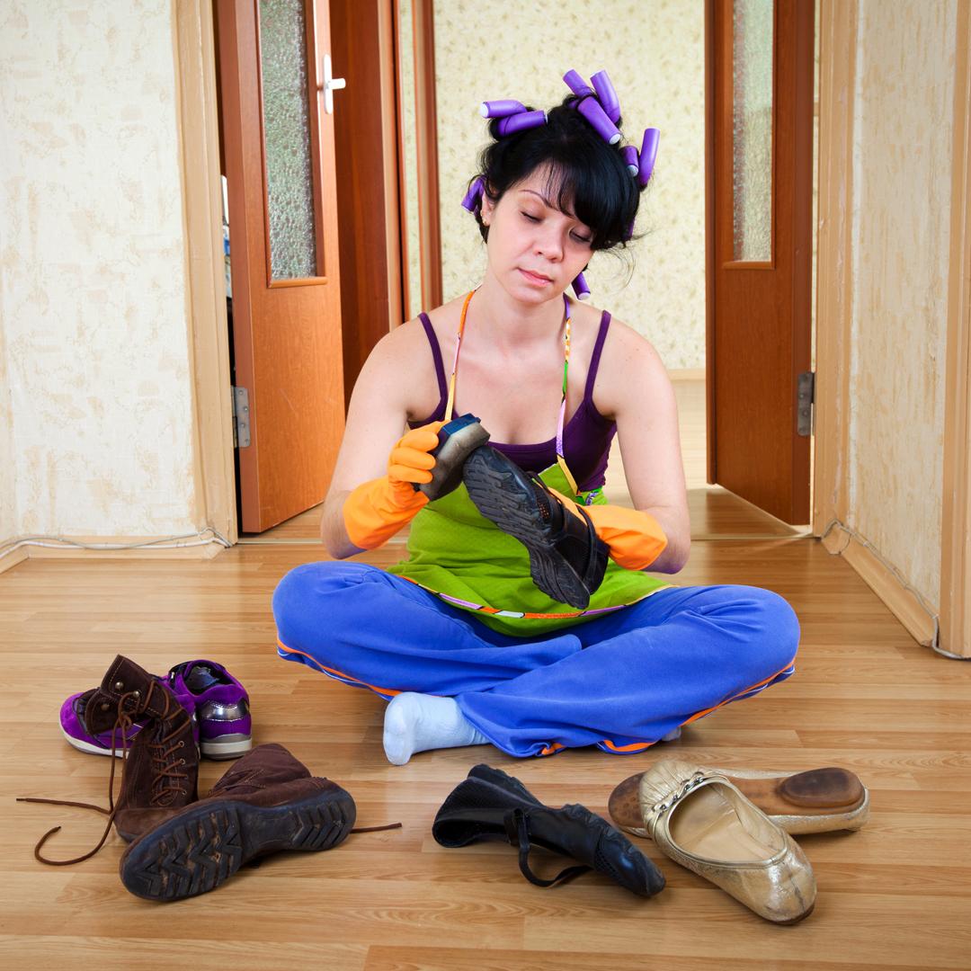 foto post limpeiza de zapatos por coronavirus