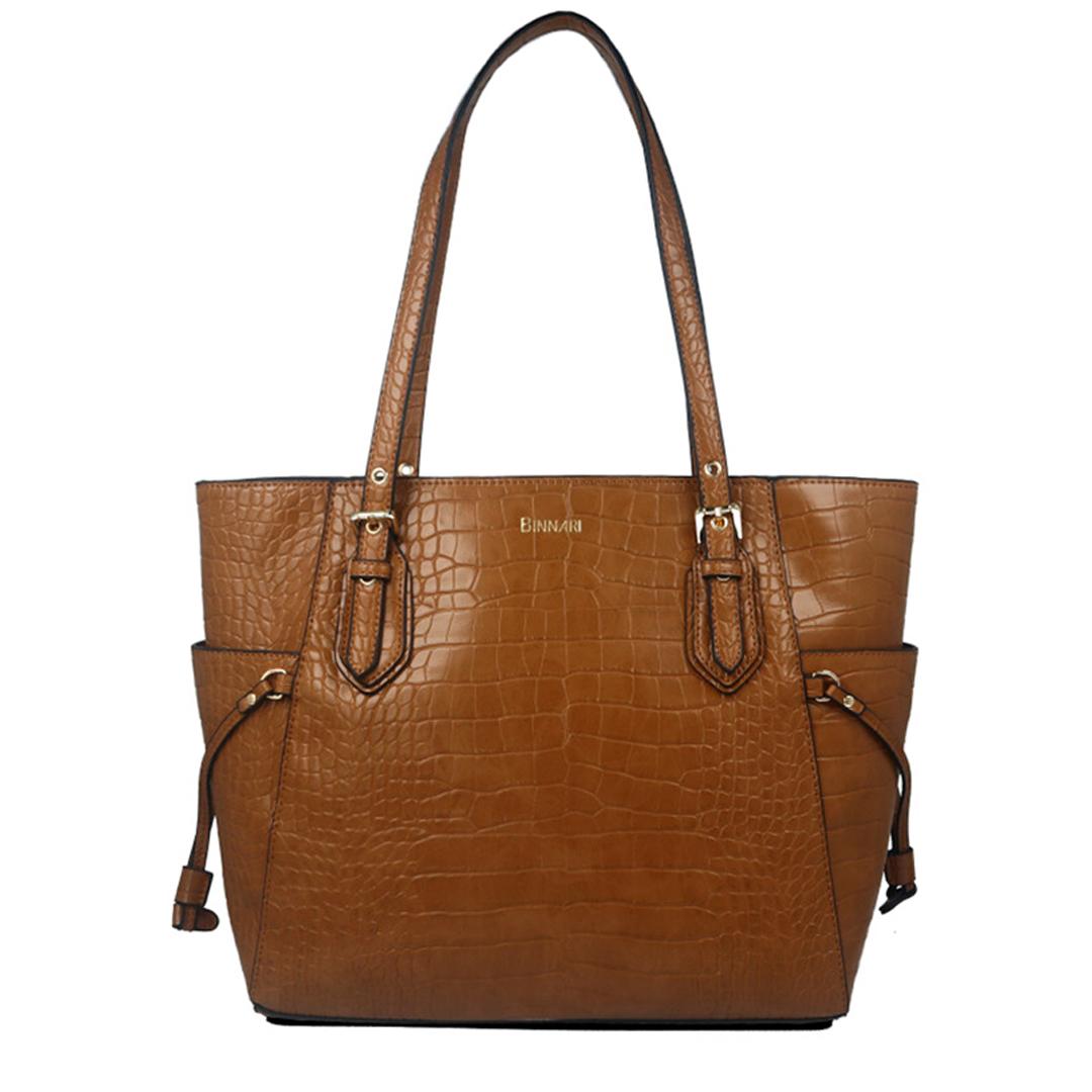 Bolsos de mujer marrón Binnari 18104