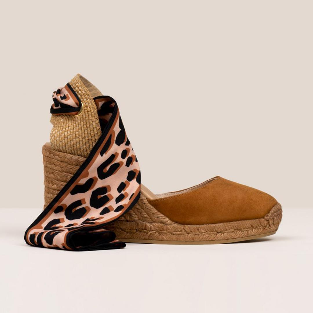 sandalias de esparto mujer gaimo globo cinta whisky