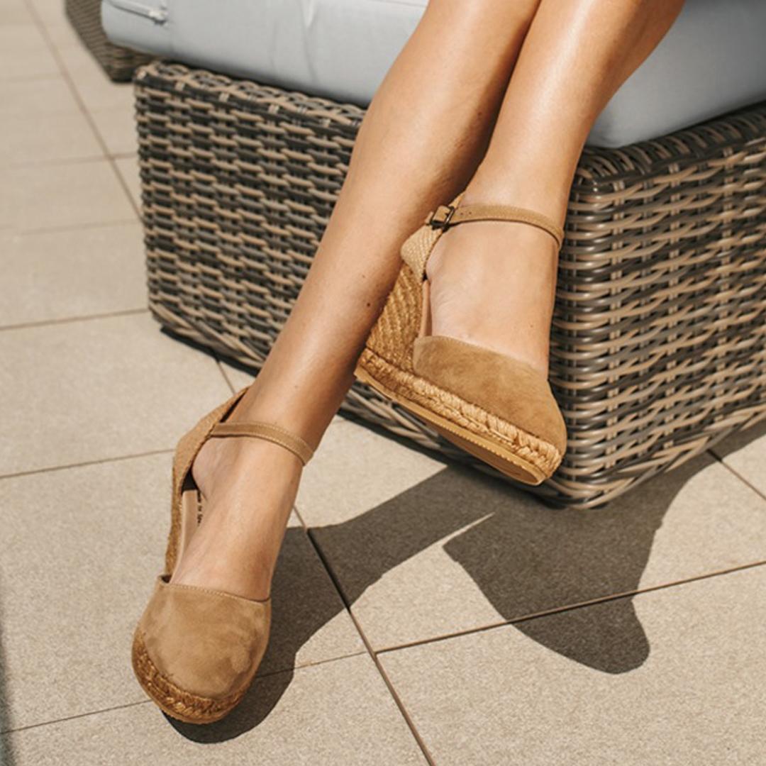 sandalias de esparto de mujer