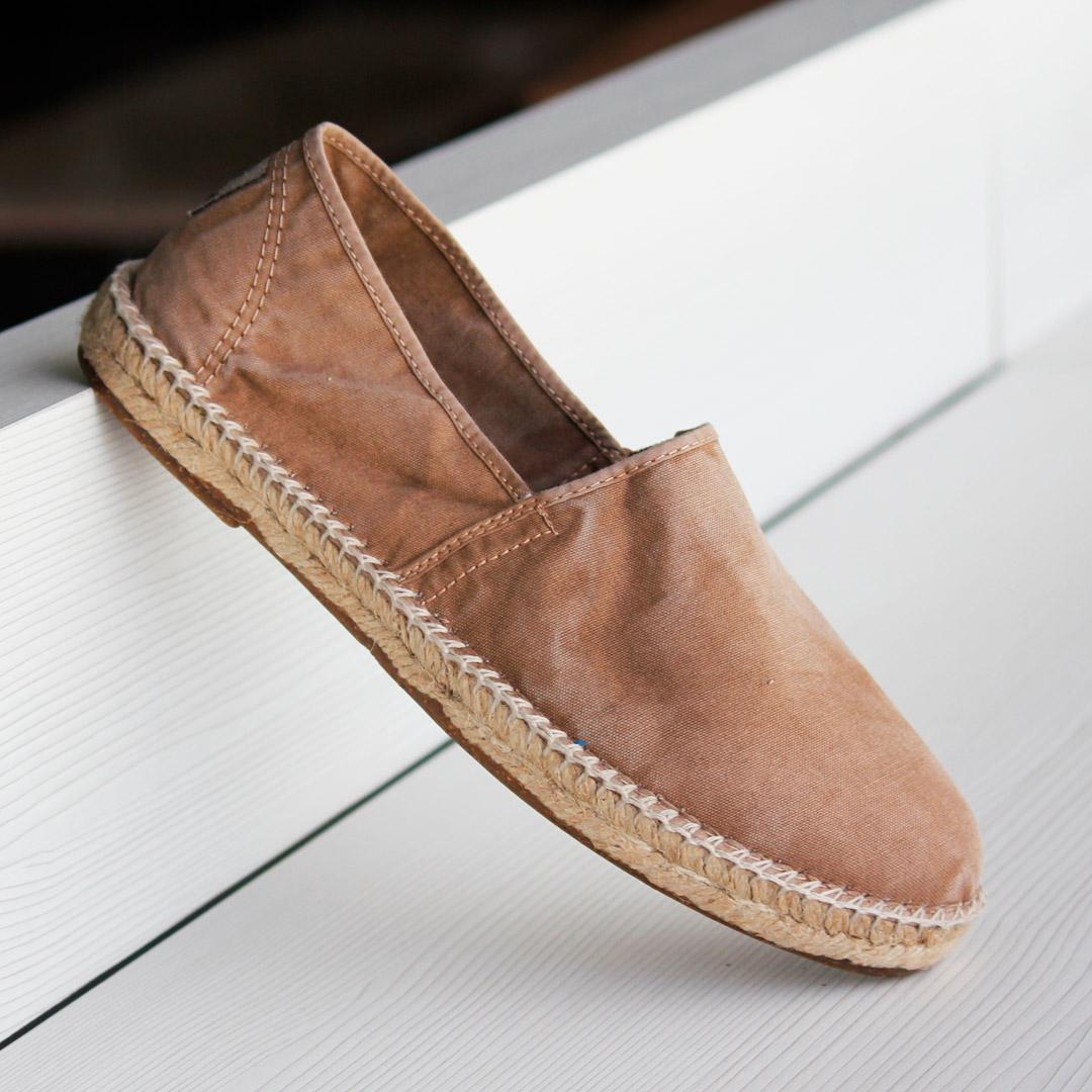 espardeñas zapatos para hombre Natural World old trebol 325E
