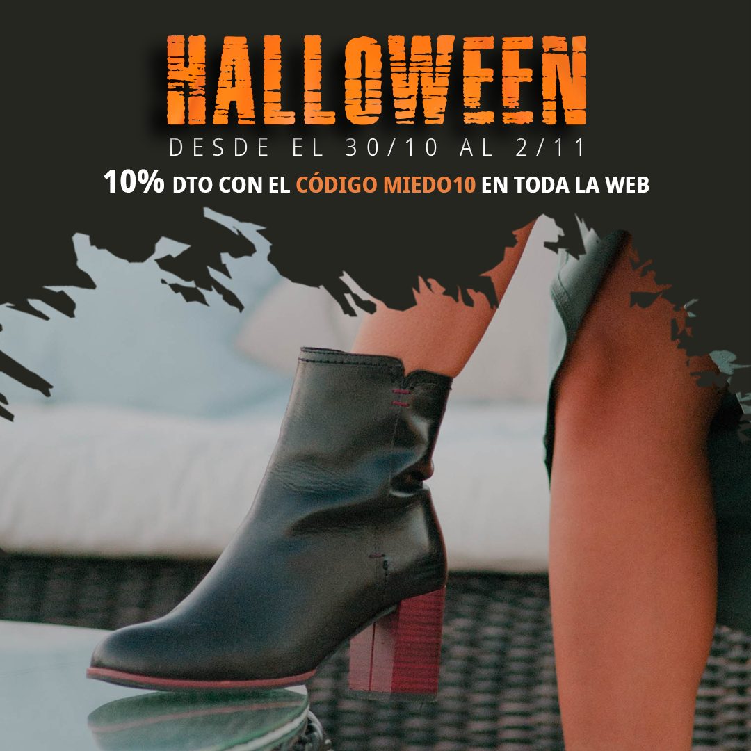 Descuentos zapatos halloween Botines Alma de Candela