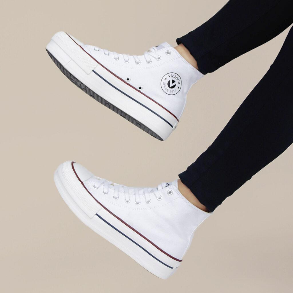Zapatos de tela blancos Victoria