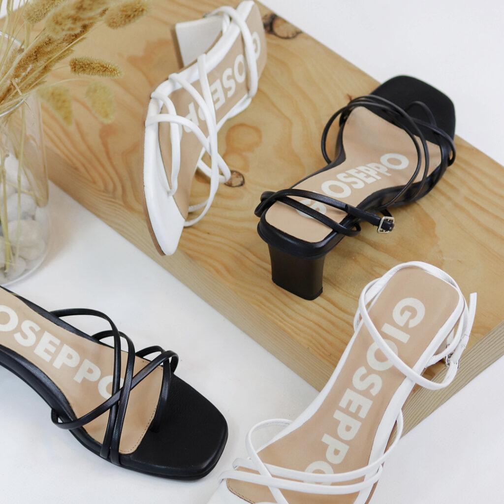 sandalia de punta cuadrada Sandalia tiras finas Gioseppo Delmar