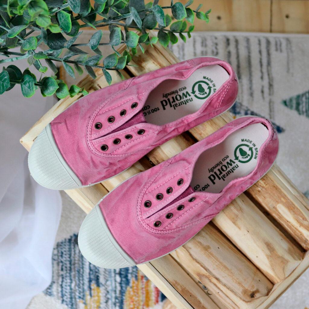 zapatillas de lona mujer Natural World Old
